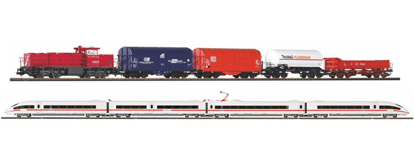 coffret PIKO 2 sets G1206 + 4 wagons ICE3