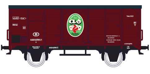 wagon PIKO WAGON BIERE DES AS SNCB